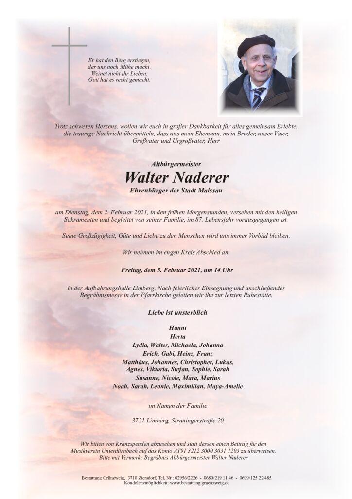 Walter Naderer