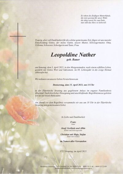 Leopoldine Nather