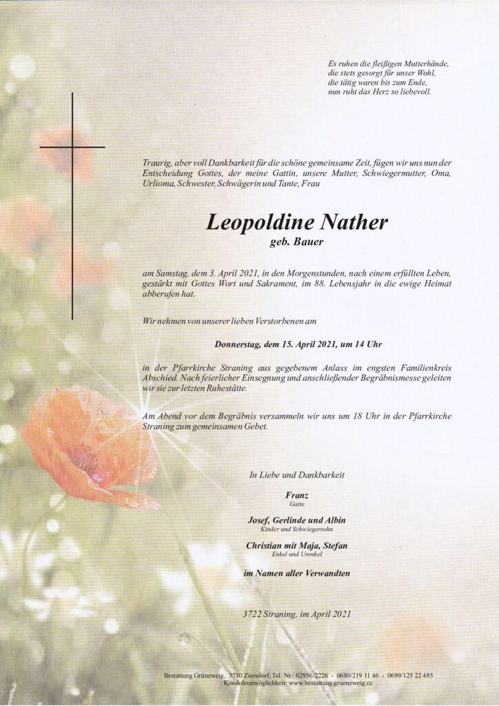 Leopoldine Nather