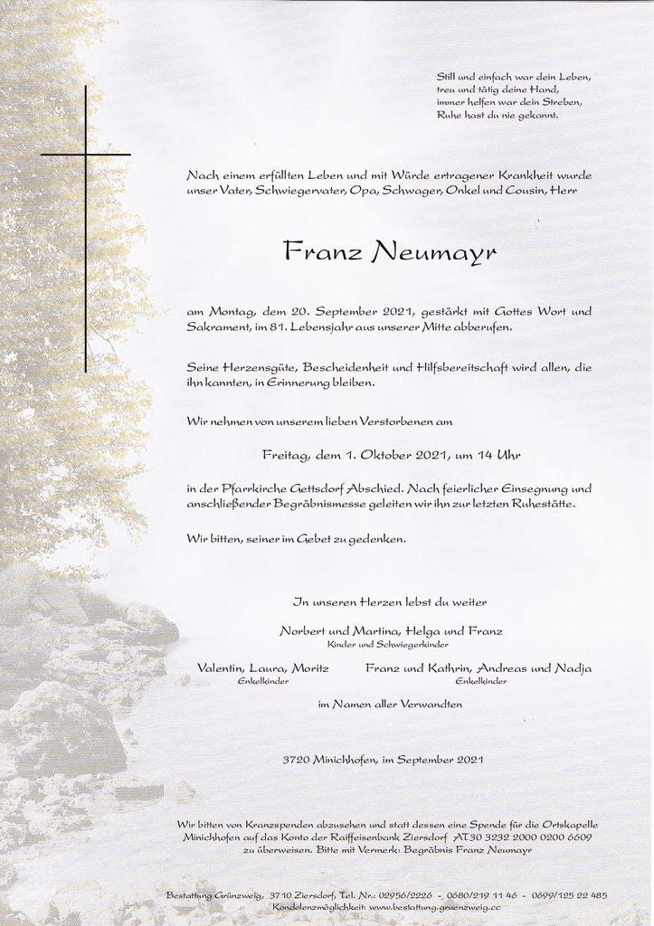 Franz Neumayr