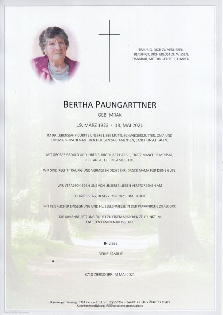 Bertha Paungarttner
