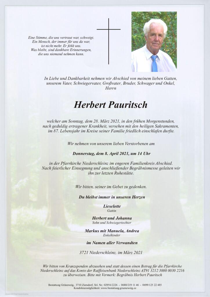 Herbert Pauritsch