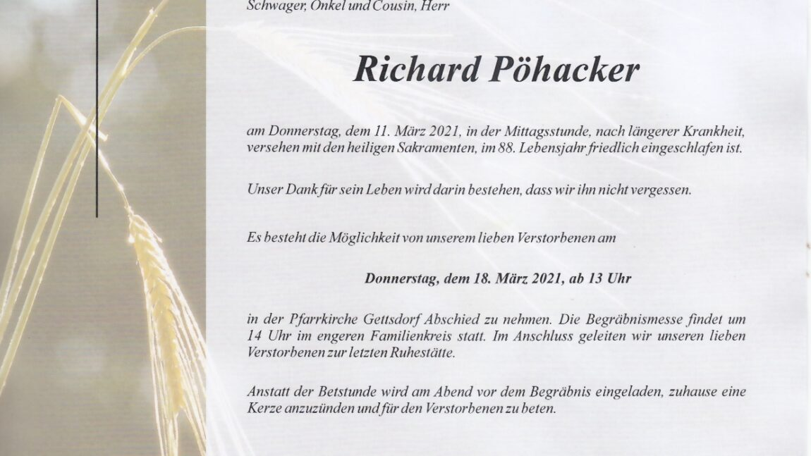 Richard Pöhacker