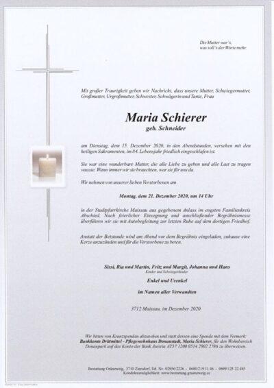 Maria Schierer