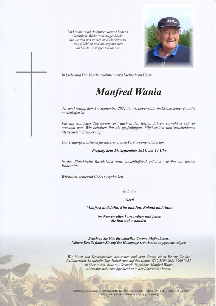 Manfred Wania