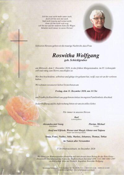 Roswitha Wolfgang