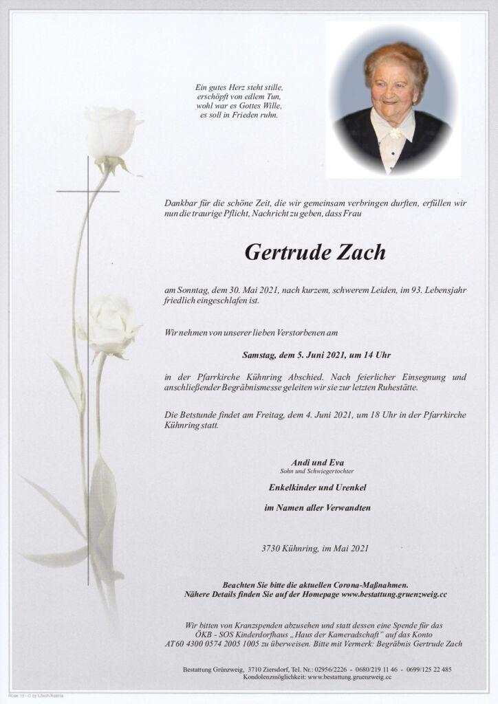 Gertrude Zach