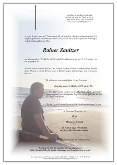 Rainer Zanitzer