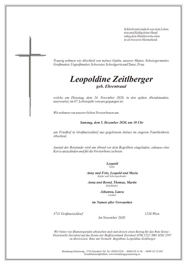 Leopoldine Zeitlberger