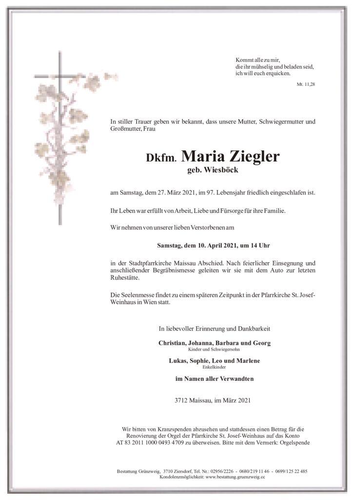 Dkfm. Maria Ziegler